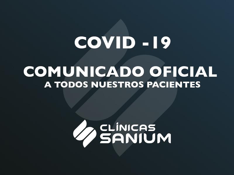 COVID-19  Comunicado a todos nuestros pacientes.